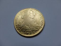 MONNAIE ESPAGNE - REPRODUCTION - 8 ESCUDOS - 1773 - CAROL III - ARMOIRIE - Espagne