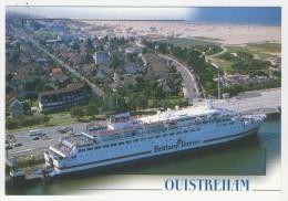 """14 - Ouistreham          Vue Générale Aérienne Et Le """"Duc De Normandie"""" - Ouistreham"""