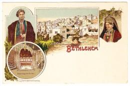 AK Palästina - Bethlehem - AK Ungebraucht Jedoch Mit Marke Und Stempel Auf Der Rückseite Litho Hentschel - Palestine