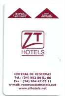 HOTEL ZT, Llave Clef Key Keycard, Karte - Hotel Labels