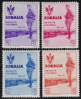 ITALIA 1933 -COLONIE ITALIANE SOMALIA 1935 Visita Del Re 2v Gomma Integra + 2v Nuovi Con TL - Somalia