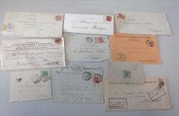 ITALIA REGNO - LOTTO Storia Postale / 10 Buste E Lettere - Storia Postale