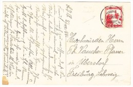 Palästina - Marke Entwertet Mit CH Stempel Ueberstorf 19.12.1928 Auf AK Nazareth Mount Tabor - Palestine