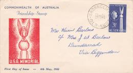 Australia 1955 USA Friendship Addressed FDC - FDC