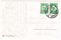 Palästina - Jerusalem 22.4.1891 Mit 2x10 Paras Grün Auf AK Todesangst Grotte In Jerusalem - Palestine