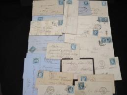 FRANCE - Lot De  20  Lettres Classiques Diverses - A étudier - Lot N° 6854 - 1849-1876: Période Classique