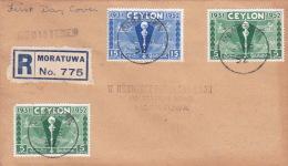 Ceylon 1952 Registered First Day Cover - Sri Lanka (Ceylon) (1948-...)