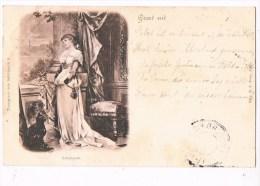 30465 ( 2 Scans ) Groet Uit  - Schnsucht - Trompeter Von Sakkingen 9 - Fancy Cards