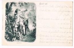 30466 ( 2 Scans ) Groet Uit - Abschied - Trompeter Von Sakkingen 8 - Fancy Cards