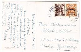 Palästina - Jerusalem 26.11.1925 Auf AK Nazareth Nach Neustadt I Schw. D. - Palestine