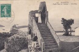 C P A---64---BIARRITZ---vieille Tour De L'atalaye  ---voir 2 Scans - Biarritz