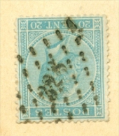 België/Belgique 18  L 328  St Nicolas  Nipa + 0 - 1865-1866 Profil Gauche