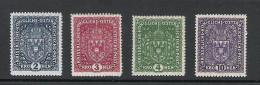 Kaiserreich 1916 Freimarken Satz ANK 200 - 203, *, **, KW: 160�