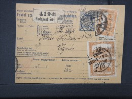 HONGRIE - Détaillons Collection De Bulletins  D Expéditions  - Colis Postaux  - A Voir - Lot N° P5413 - Paketmarken