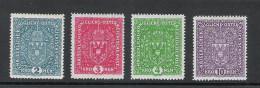 Kaiserreich 1917 Freimarken Satz ANK 204 - 207, *, KW: 300�