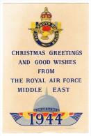 Glückwunschkarte Weihnachten  Neujahr Der Royal Air Force Vom Middle East ( D. Mackay ) - Palestine