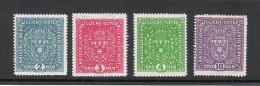 Kaiserreich 1917 Freimarken Satz ANK 208 - 211, *,**, KW: 70�