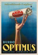 Postcard - Poster Reproduction - Burro Optimus Polenghi Lombardo Lodi 1952 - Publicidad