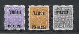 Kaiserreich 1918 Flugpostmarken Satz ANK 225x - 227x, **, KW: 60�