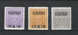 Kaiserreich 1918 Flugpostmarken Satz ANK 225y - 227y, **, KW: 50�