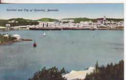 3-Bermuda-America Del Nord-Harbour Und City Of Hamilton- Postcard New, Small Format, The First 900. - Postcards