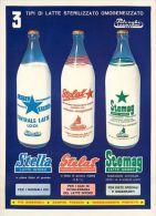 Postcard - Poster Reproduction - 3 Tipi Latte Polenghi Lombardo Lodi 1958 - Publicidad