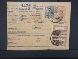 HONGRIE - Détaillons Collection De Bulletins  D Expéditions  - Colis Postaux  - A Voir - Lot N° P5422 - Paketmarken
