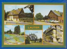 Deutschland; Lauter Bei Aue; Multibildkarte Mit Conradswiese, Freibad Und Ernst Thälmann Strasse - Aue