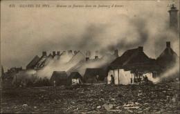 MILITARIA - Guerre 14-18 - Incendie Faubourg D'Anvers - Guerre 1914-18