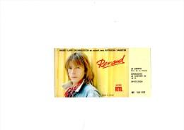 "RENAUD Paris Z�nith 1984 - Ticket ""invitation"""