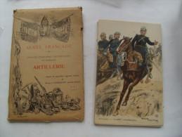 Pochette Armee Francaise Uniforme Artillerie Aquarelles Maurice Toussaint 8 Cartes - Uniformi