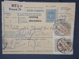 HONGRIE - Détaillons Collection De Bulletins  D Expéditions  - Colis Postaux  - A Voir - Lot N° P5434 - Paketmarken
