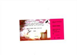 "INDOCHINE Paris Z�nith 27 Mars 1986 - Ticket ""invitation"" complet talon non d�tach�"