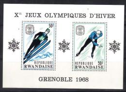 OL-E33 -  RWANDA - BF N° 10 OLYMPIC G.GRENOBLE    ***  MNH . Complete Set - Inverno1968: Grenoble