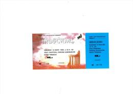 "INDOCHINE Reims 14 Mars 1986 - Ticket ""invitation"" complet talon non d�tach�"