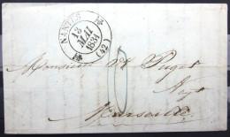 CACHET TYPE 12A  --  NANTES  --  LOIRE INF.   --  LAC  --  1831 - Marcophilie (Lettres)