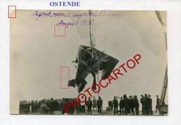 OOSTENDE-!!?-Avion Anglais Abattu-Carte Photo Allemande-Guerre14-18-1 WK-BELGIQUE-Fliegerei-Aviation-Aircraft- - Oostende