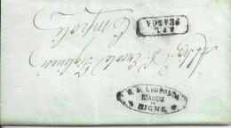 STRADE FERRATE DELLA S.F. LEOPOLDA STAZIONE DI SIGNA S.F.L. FRANCA AL SIG. ERCOLE FIGLINESI EMPOLI 26\11\1858 CON TESTO - Toscana