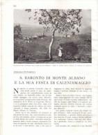 S. BORONTO DI MONTE ALBANO E LA SUA FESTA DI CALENDIMAGGIO 1933 ARTICOLO RITAGLIATO DA GIORNALE - Immagine Tagliata