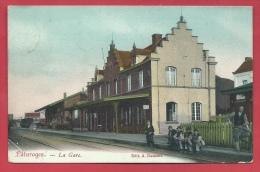 Pâturages - La Gare - Superbe Carte Couleur - 1903 ( Voir Verso ) - Colfontaine