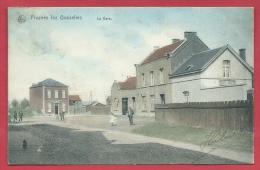 Frasnes-lez-Gosselies -La Gare - Superbe Carte Couleur -1906 ( Voir Verso ) - Les Bons Villers