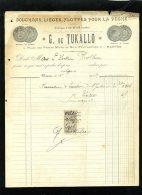 18401-facture-4229    1906 Nantes 44 Bouchons Lièges Pour La Peche - France