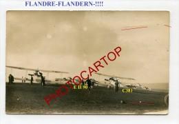 FLANDERN-JASTA-TERRAIN-Carte Photo Allemande-Guerre 14-18-1 WK-BELGIQUE-FRANCE-Fliegerei-Aviation-Aircraft-Militaria- - Belgium