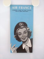 AIR FRANCE - Manuel Original Français Anglais Comment Faire Un Bon Voyage - Année 1956 - PARFAIT ETAT - Pubblicitari