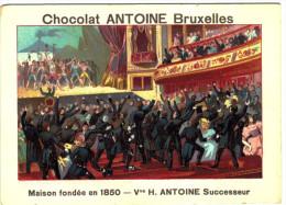 Chromo Chocolat Antoine - N° 20 - La Représentation De La Muette De Portici - 2 Scans - Chocolat