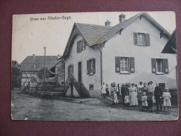 CPA 68 SEPPOIS LE BAS Gruss Aus NIEDER SEPT 1914 BELLE ANIMATION Canton HIRSINGUE - Otros Municipios