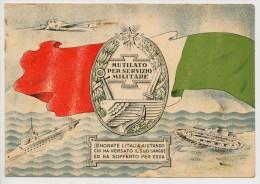 MUTILATO PER SERVIZIO MILITARE ONORATE L'ITALIA - Patriotic