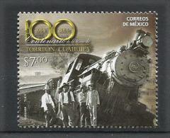 MEXIQUE.Centenaire De La Capture De Torreon Par Francisco Villa (deraillement Du Train) . Un T-p Neuf ** Année 2014 - Trains