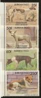 Série De 4 Timbres Neufs** Chiens Locaux 1989 Burkina-Faso - Burkina Faso (1984-...)
