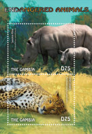 GAMBIA  IGPC # 1445 S ; MINT N H STAMPS OF  ENDANGERED ANIMALS - Gambia (1965-...)